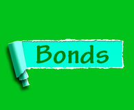 Bonds Word Means Online Business Connections And Networking. Bonds Word Meaning Online Business Connections And Networking Royalty Free Stock Images