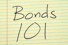 Bonds 101 On A Yellow Legal Pad Stock Photo