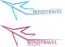 BondTravel - λογότυπο ταξιδιού Στοκ εικόνες με δικαίωμα ελεύθερης χρήσης