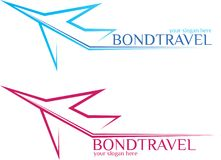BondTravel - lopplogo Royaltyfria Bilder