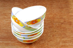 Bone china bowls Stock Images