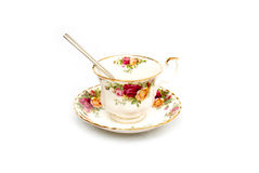 Bone China Cup and Saucer Royalty Free Stock Image