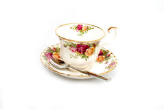 Bone China Cup and Saucer Royalty Free Stock Photography
