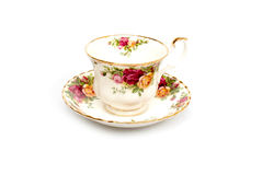 Bone China Cup and Saucer Royalty Free Stock Photo