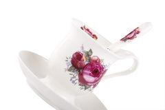 Bone China Tea Cup and Spoon Stock Image