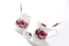 Bone China Tea Cup and Spoon Stock Photography