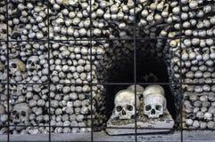 The Bone Church at Kutna Hora. The Ossuary Chapel of All Saints, aka the bone church at Kutna Hora stock photo