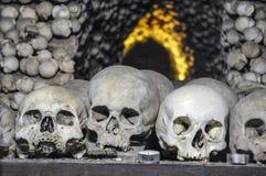 The Bone Church at Kutna Hora. The Ossuary Chapel of All Saints, aka the bone church at Kutna Hora stock photos