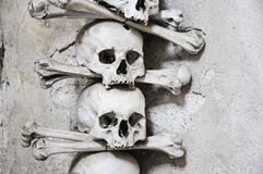 The Bone Church at Kutna Hora - 2 skull and crossbones Stock Photo