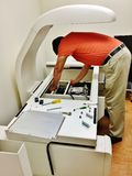 Bone density scan engineering royalty free stock photography
