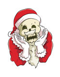 Bone head santa claus. Bone head wear santa claus costume, smile and pose with cute action Stock Photography