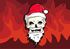 Bone head wear santa hat. With smile in his face to celebrate christmas day and new years. this art are made with illustrator handmade drawn Stock Photography