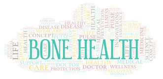 Bone Health word cloud. Wordcloud made with text only vector illustration