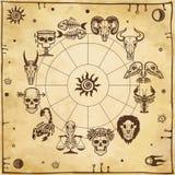 Bone horoscope. Zodiac signs. Stock Photography