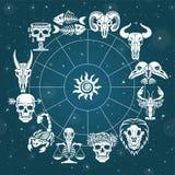 Bone horoscope. Zodiac signs. Stock Images