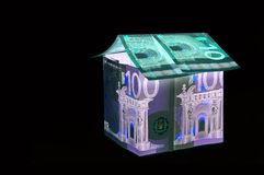 BOne Hundred and ten Euro House in UV light protection Royalty Free Stock Photo