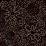 Bone lace seamless pattern Stock Photos