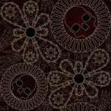 Bone lace seamless pattern royalty free illustration