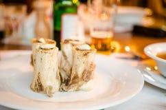 Bone marrow dish stock photo