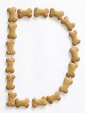 Bone Shape Dog food Letter D Stock Photography
