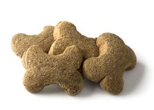 Bone shaped dog biscuit. Isolated on a white background Stock Image