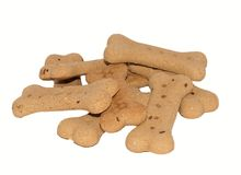 Bone Shaped Dog Biscuits. Stock Image