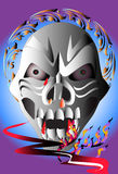 Bone skull fire eagle. Graphic design is a graphic  illustrator Royalty Free Stock Images