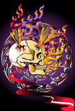 Bone skull fire eagle. Graphic design is a graphic  illustrator Royalty Free Stock Photo