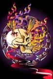 Bone skull fire eagle Royalty Free Stock Photo
