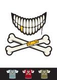 Bone Skull Smiley Stock Photography