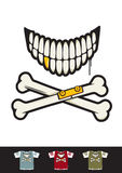 Bone skull smiley Royalty Free Stock Photo