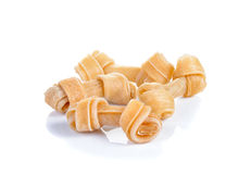 Bone snack  for dog on white background Royalty Free Stock Images