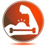 Bone Strength Icon. An image of a bone strength icon stock illustration