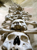 Bone Wall. Skull and crossbones displayed in a church Royalty Free Stock Image