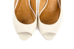 Bone White Open Toe Shoes #2 Stock Images