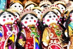 Boneca Ásia da menina tradicional Fotografia de Stock