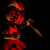 Boneca 17 de Halloween - atormentada Foto de Stock Royalty Free