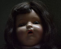 Boneca antiga assustador Imagens de Stock Royalty Free
