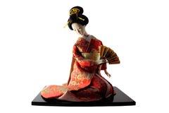 Boneca asiática isolada no branco Foto de Stock Royalty Free
