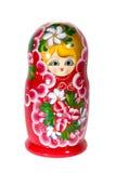 Boneca bonito do russo com trajeto de grampeamento Imagem de Stock
