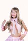 Boneca-como o modelo que levanta como o blonde estúpido Imagem de Stock