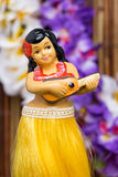 Boneca da menina de Hula Fotos de Stock