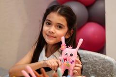Boneca da menina de Tailândia feito a mão Foto de Stock Royalty Free