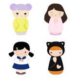 Boneca de China ilustração stock