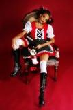 Boneca de Goth do Anime imagem de stock royalty free