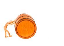 Boneca de madeira da arte com tambor foto de stock