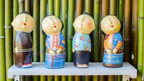 A boneca de madeira de Tailândia imagem de stock royalty free