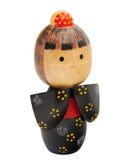 Boneca de madeira japonesa fotografia de stock royalty free