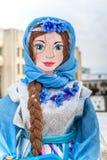 Boneca de Maslenitsa do russo em Yaroslavl Fotos de Stock Royalty Free