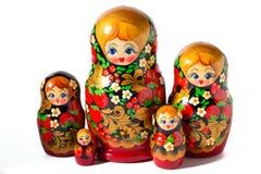 Boneca de Matryoshka no fundo branco fotografia de stock